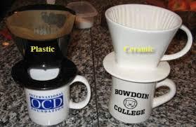 mug vs cup pour over coffee dripper review plastic vs ceramic
