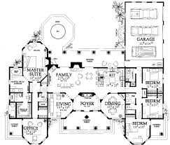 Big Houses Floor Plans Sunbelt Style House Plans Plan 68 121