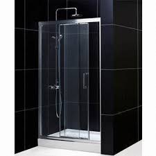 3 Panel Shower Door 3 Panel Shower Door With 1 Stationary 2 Moving Panel Screen