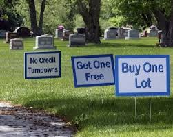 cemetery lots buy one get on free cave news