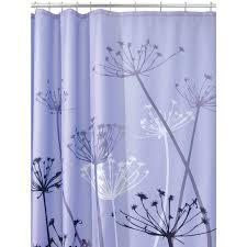 light purple shower curtain amazon com interdesign thistle shower curtain purple and gray 72