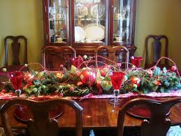 decorating a dining room table for christmas affordable ambience