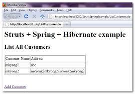tutorial java spring hibernate struts spring hibernate integration exle mkyong com