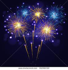 celebration multicolored sparkling vector fireworks 4th stock