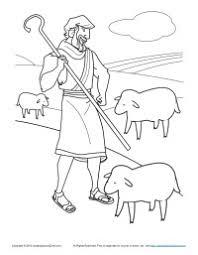 bible coloring pages kids shepherd flock