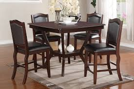 Espresso Dining Room Furniture 5 Pc Chevalry Collection
