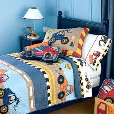 Toddler Bed Quilt Set Boys Blue Construction Digger Jcb Kids Junior Toddler Bed Duvet