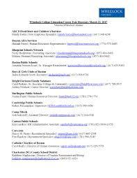 Human Resources Representative 2017 Education Career Fair