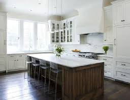Transitional White Kitchen - best white kitchen cabinets with oil rubbed bronze hardware