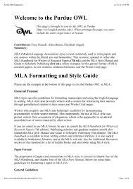 how to write a paper in mla purdue owl mla style guide