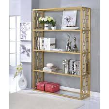 Etagere Bookshelf Gold Bookcases Home Office Furniture The Home Depot
