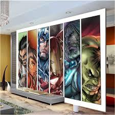 Superhero Home Decor Aliexpress Com Buy Comics Avengers Boys Bedroom Photo Wallpaper