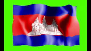 Cambodia Flag Cambodia Waving Flag Green Screen Animation Free Royalty Footage