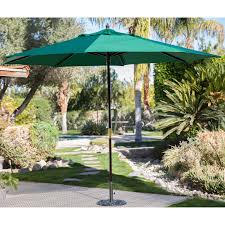 Outdoor Patio Umbrella Coral Coast Key Largo 11 Ft Spun Poly Wood Market Umbrella