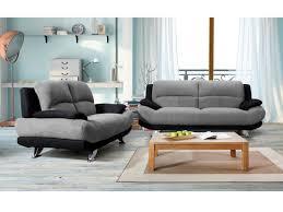 canapé en canapé en microfibre bicolore gris et noir musko