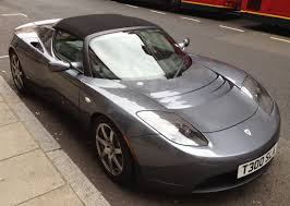 tesla roadster tesla roadster grey with black roof in london youtube