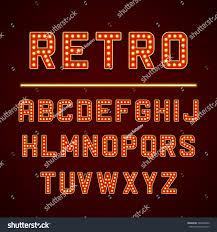 vector design retro signboard letters light stock vector 348322082