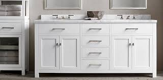 White Vanity Cabinets For Bathrooms Hutton Vanity Bath Collection White Polished Nickel Rh