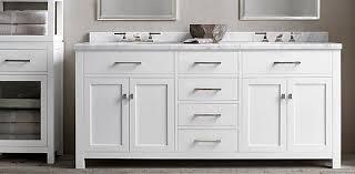 Hutton Vanity Bath Collection White Polished Nickel RH - Bathroom vanities with tops restoration hardware