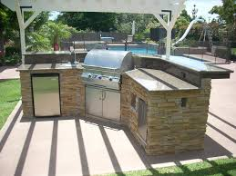 outdoor kitchen cabinets stainless steel and wooden outdoor