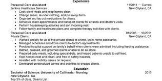 Personal Care Assistant Job Description For Resume by Patient Care Technician Job Description Pct Resume Awesome Design