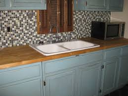 decor paint kitchen cabinets with wood countertop and kraus sinks