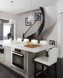 center kitchen islands kitchen island pushed against wall design ideas