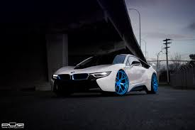 Bmw I8 Modified - boostaddict rolling white bmw i8 on 22 inch electric blue