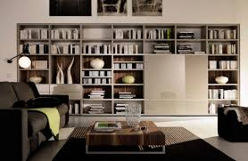 cozy modern office bookshelf living room office ideas cool office