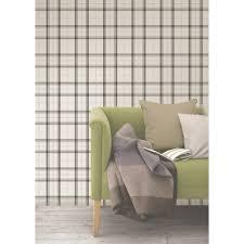 56 4 sq ft cambridge black plaid wallpaper 2900 40535 the home