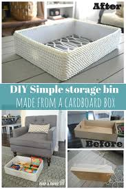 creating a simple storage bin using and a cardboard box
