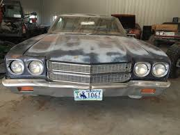 Muscle Car Barn Finds 1970 Chevrolet Chevelle Malibu 350 Automatic Barn Find Muscle Car