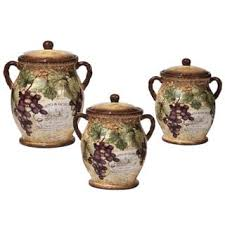 pottery canisters kitchen certified international ceramic kitchen canisters shop the best