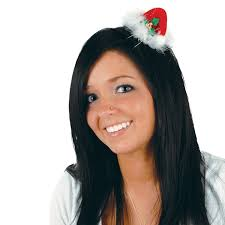amazon com beistle 1 pack santa hat hair clip for party favors