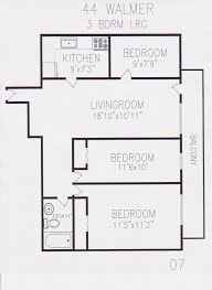 Bachelor Apartment Floor Plan by 44 Walmer Road Berkley Property Management