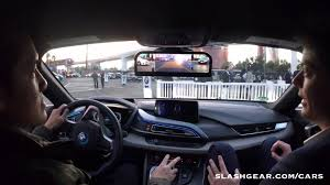 Bmw I8 2016 Interior - ces 2016 test drive bmw i8 rearview mirrorless concept youtube