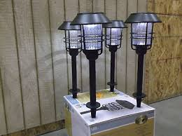 Hampton Bay Outdoor Solar Lights by Hampton Bay Led Solar Path Lights 4 Lights Outdoor Lighting