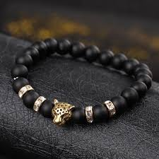 black bead bracelet with charm images Charm bracelets wholesale black natural stone beads bracelets for jpg