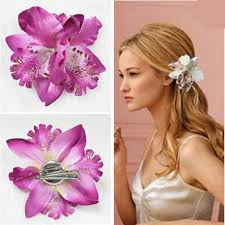 hair corsage hot sale bohemia orchid peony flowers hair hairpin corsage