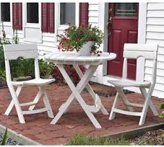 Folding Patio Table And Chair Set Quik Fold White 3 Folding Outdoor Patio Deck Cafe Bistro