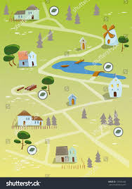 Geocaching Map Geocaching Map Stock Illustration 133351640 Shutterstock