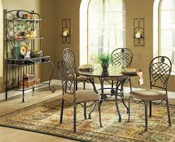 wood top u0026 metal base transitional dining table w options