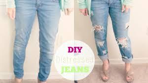 Distressing Diy by Diy Distressed Boyfriend Jeans Courtney Lundquist Youtube