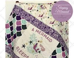 mermaid crib bedding etsy