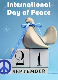 dove and peace sign decorations for international day of peace