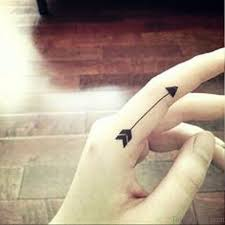 64 perfect arrow tattoos on finger