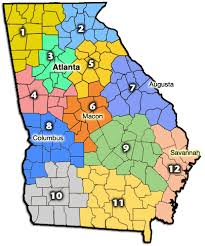 county map ga counties maps cities towns color 12 regions