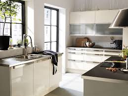kitchen awesome white brown wood glass stainless modern design