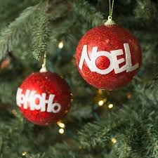 100mm ho ho ho noel ornaments box of 6 r20013 craftoutlet