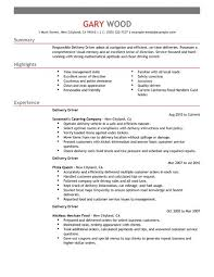 Sample Resume Of Driver by Best Restaurant Bar Delivery Driver Resume Example Livecareer